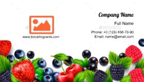 Berry fruit Business Card Template