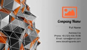 Polygon Background Business Card Template