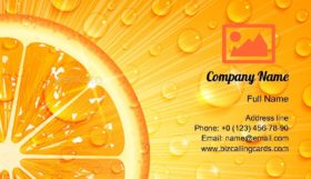 Juicy Orange Drops Business Card Template