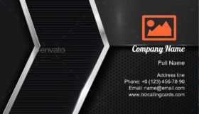 Dark metallic mesh Business Card Template