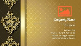 Vintage Gold Background Business Card Template