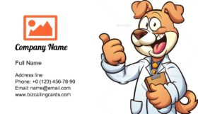 Dog Doctor Business Card Template