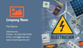 Electric Service Business Card Template