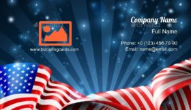 American Flag Patriotic Business Card Template