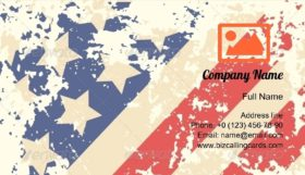 Retro American Flag Business Card Template