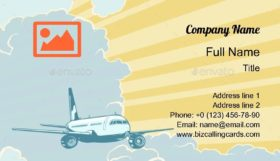 Retro Airplane Business Card Template