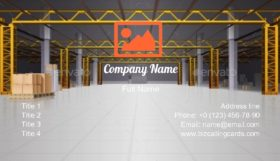 Storage Interior Business Card Template