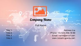 Theme of Logistics Business Card Template