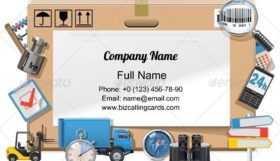 Delivery Board Business Card Template
