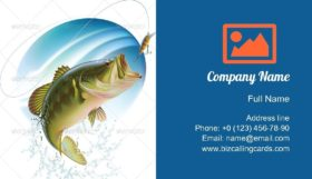 Catching a Bait Business Card Template