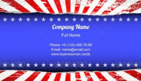 Red and White Striped Business Card Template