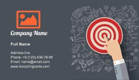 Finger to the Target Business Card Template