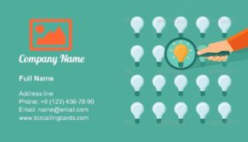 Searching for Idea Business Card Template