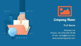 Creating Quality Content Business Card Template
