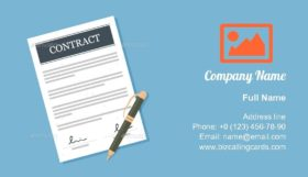 Signed Contract Business Card Template