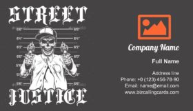 Street Justice Business Card Template