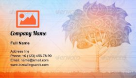 Growth Abstract Tree Business Card Template