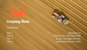 Tractor Plows the Earth Business Card Template
