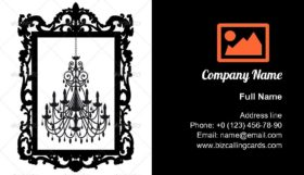 Chandelier Frame Business Card Template