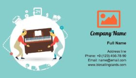 Movers Carry Furniture Business Card Template