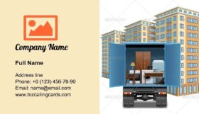 Furniture Transportation Business Card Template