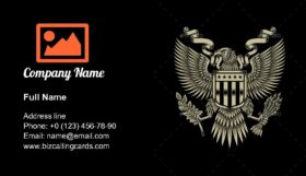 American Eagle Emblem Business Card Template