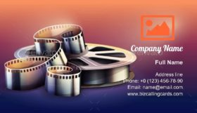 Motion Picture Production Business Card Template