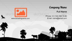Grey Trees and Village Business Card Template