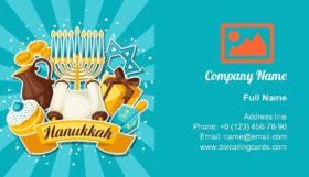 Jewish Hanukkah Business Card Template