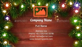 Festive Chrtismas celebrating Business Card Template