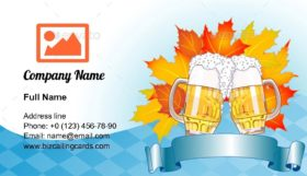 Oktoberfest Celebration Business Card Template