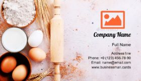 Ingredients for Baking Business Card Template