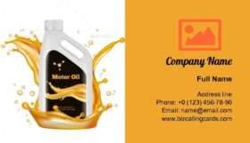 Engine Oil Bottle Business Card Template