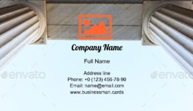 Ancient Arcade Ceiling Business Card Template
